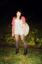 shirt - Wetseal suit - DIY ripped tights - Mudd boots - Target purse