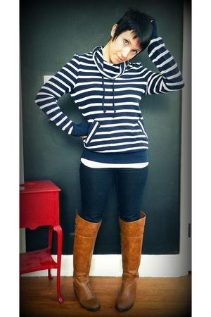 blue Target shirt - blue Target jeans - brown Ebay boots
