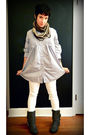 Blue-marshalls-shirt-white-target-jeans-gray-make-me-chic-on-ebay-boots-br