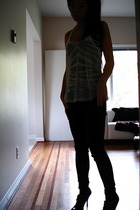 free people top - H & M top - Silence & Noise jeans - Enzo Anglioni shoes