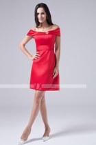 material satin dress