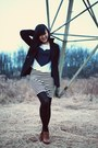 Black-american-rag-coat-black-dkny-tights-white-striped-love-culture-skirt