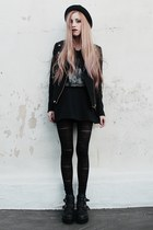 47 street boots - NINA PIU hat - leather collar Zara jacket