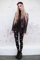 black eye print Lovelysally leggings