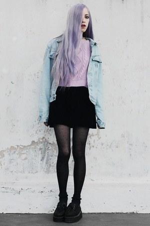 light purple crop She Inside sweater