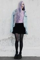 light purple crop She Inside sweater