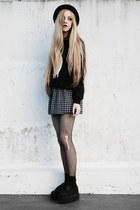 black made by me dress - black chicnova sweatshirt