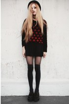 black crosses Local store sweater - black skater made by me skirt
