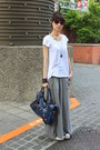 Gray-jacket-navy-bag-heather-gray-maxi-skirt-skirt