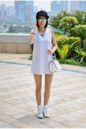 white Puffi bag - white Jeffrey Campbell sneakers - white Puffii top