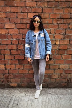 sky blue korea jacket