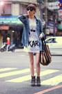 Heather-gray-boots-sky-blue-jacket-white-shirt