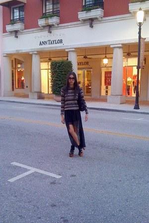 black high-low Forever 21 skirt - beige fair isle Forever 21 sweater