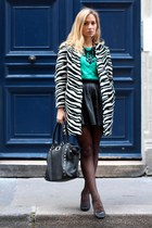Zara coat - Aldo bag - asos skirt - Topshop cardigan - asoscom pants