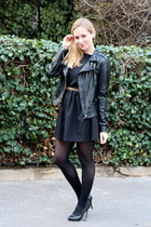black MonShowroom dress - romwe jacket