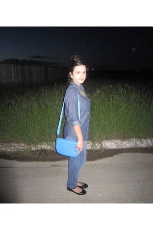 asos blouse - skinny jeans delias jeans - trapeze purse urban og bag