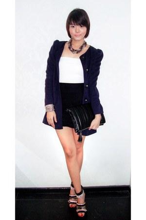 Forever 21 dress - bought online coat - Mango bag - strappy heels bought online