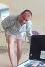 John-rocha-shirt-casual-white-american-apparel-shorts