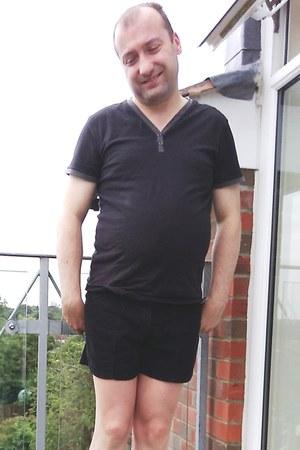 black Birkenstock sandals - black corduroy American Apparel shorts