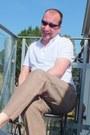 White-polo-topman-shirt-brown-linen-next-pants