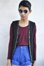 Blue-northern-getaway-shorts-black-forever-21-vest