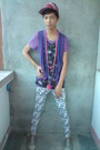 Purple-top-blue-accessories-red-f-h-hat-white-korean-store-leggings-silv