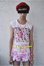 Bubble-gum-styleline-shorts-ivory-styleline-top-white-asianvogueshop-wedges