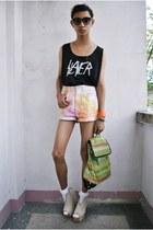 Punk-x-Pretty shorts - Punk-x-Pretty top - asianvogue shop wedges