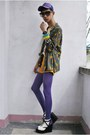 Army-green-styleline-shirt-purple-777-lucky-hat-orange-styleline-shorts