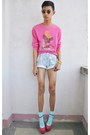 Light-blue-kidflo-shorts-bubble-gum-asianvogue-shop-wedges