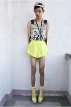 yellow gifi clothing top - bubble gum Parisian heels