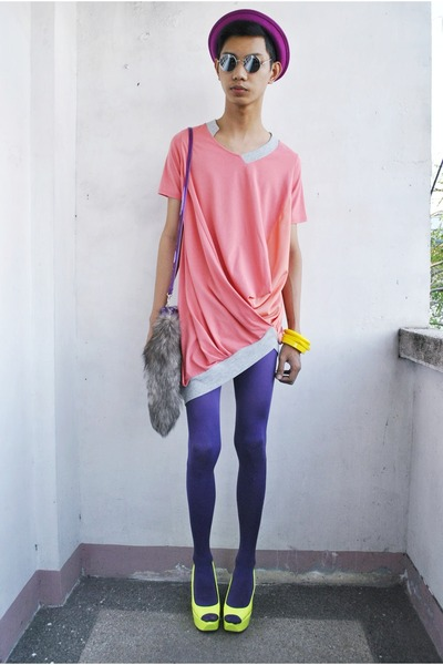 OSKA top - Italy tights - Primadonna wedges - Forever 21 accessories