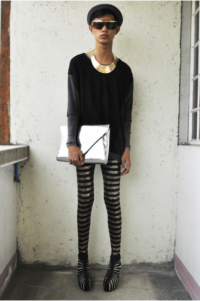 silver Gold Dot bag - brown S Dare to be Bold leggings - black Gold Dot wedges