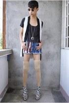 white asianvogue shop wedges - tan sm department store socks