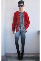 red Polo cardigan