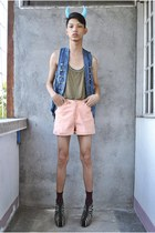faded glory shorts - random from Hong Kong socks - Max vest - Forever 21 top