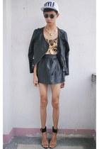 Blackmilk Clothing bodysuit - gallery skirt