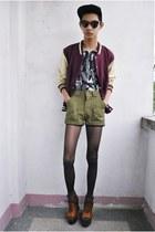 brick red Topman jacket - heather gray gifi clothing top