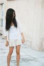 White-forever21-top-beige-cinderella-skirt-beige-anne-klein-cardigan-beige