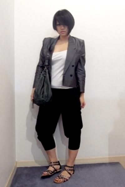 vintage blazer - from Thailand top - p&co pants - Vincci shoes - mimco bag acces