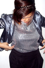 Silver-shanghai-road-jacket-silver-time-square-dress-black-zara-pants