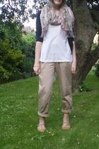 H&M scarf - H&M pants - Topshop shoes - vintage bracelet