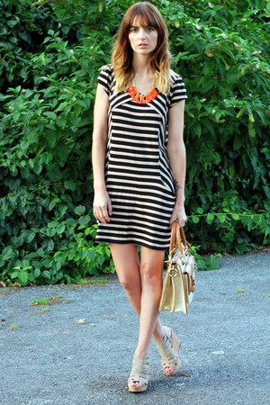 black striped Wallis dress