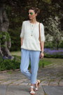 White-knit-chicwish-sweater-white-raffia-brahmin-bag