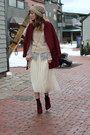 Maroon-ankle-boots-steve-madden-boots-ruby-red-cocoon-old-navy-coat