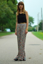 navy BCBGeneration boots - blue palazzo pants BCBGeneration pants