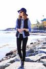 Black-skinny-jeans-j-brand-jeans-navy-wide-brim-sole-society-hat
