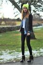 Black-skinny-j-brand-jeans-yellow-beanie-forever-21-hat