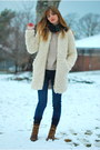 Brown-lace-up-justin-boots-ivory-lambswool-zara-coat