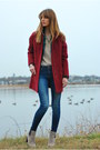 Ruby-red-cocoon-coat-old-navy-coat-blue-skinny-joes-jeans-jeans